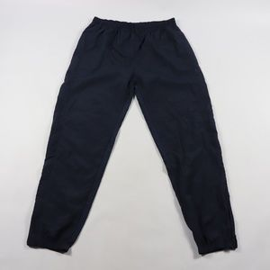 Vintage Reebok Spell Out Nylon Joggers Blue Large